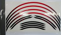 Fälg Stripes Röd/Svart