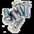 M6 Bult till bromsskiva 13 mm 20-pack