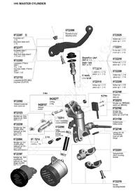 Radiell bromscylinder 16 mm