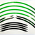 Fälg Stripes Grön/Svart