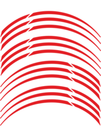 Fälg Stripes Röd