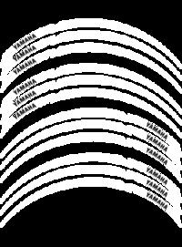 Fälg Stripes Vit/Yamaha